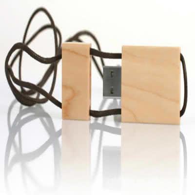 Clé USB bois collier avec cordon Stone