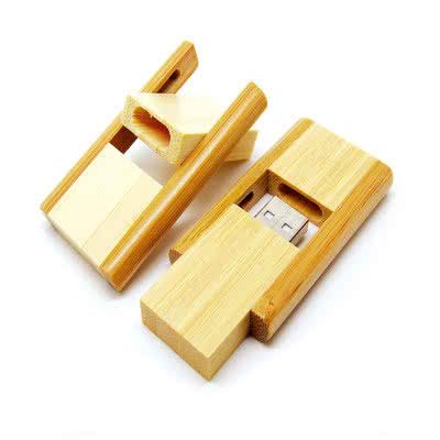 Clé USB escamotable en bois Brucke