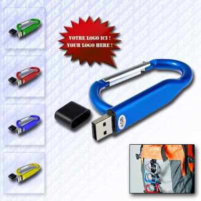 Clé USB publicitaire design mousqueton