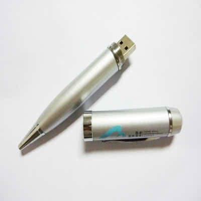 Clé USB stylo métal argenté Jammie
