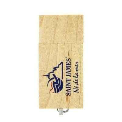 Clé USB en bois avec chaînette Brina