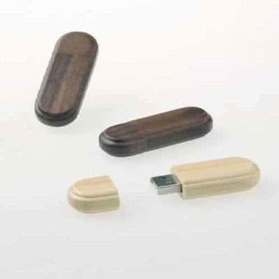 Clé USB en bois couleur au choix Dintol