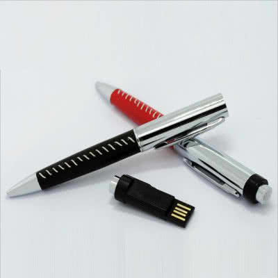 Clé USB métal/cuir Hatcher