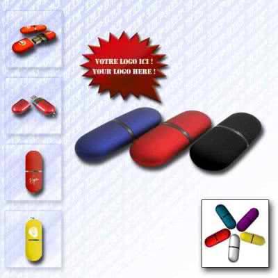Clé USB ovale arrondie Malcold