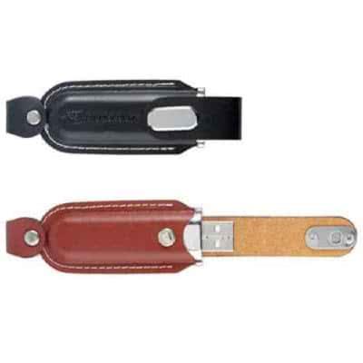 Clé USB en cuir avec rabats Huston