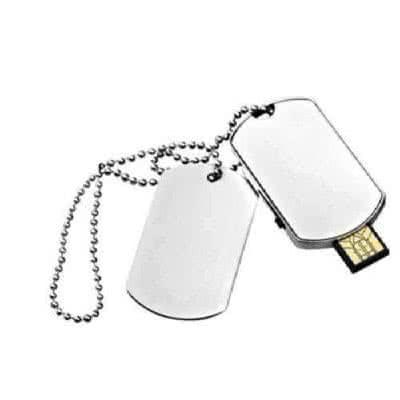 Clé USB métal plaque militaire