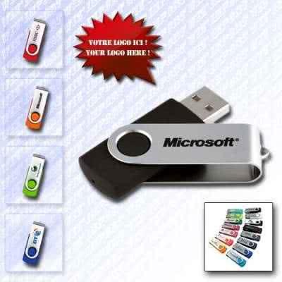 Clé USB twister coque métallique imprimable