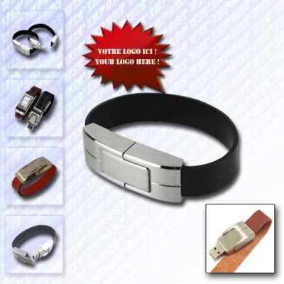 Clé USB bracelet cuir Wyntore