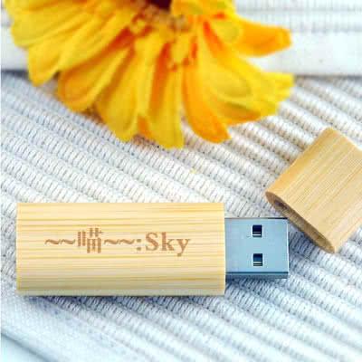 Clé USB slim bambou Feldman