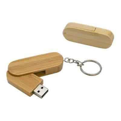 Clé USB twister bois avec anneau métal Wythale