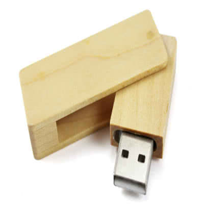 Clé USB twister avec coque en bois Waterman