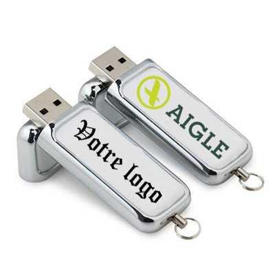 Clé USB cuir avec large surface de marquage Eagle