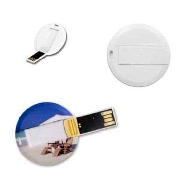 Clé USB carte ronde Chalmin