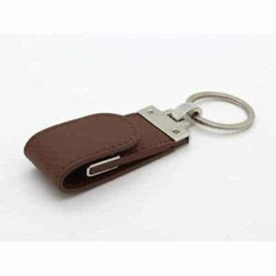 Clé USB en cuir avec attache métallique Winto
